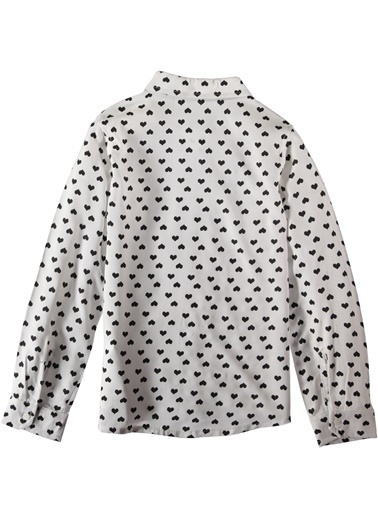 Kalp Desenli Viskon Gömlek-Asymmetry
